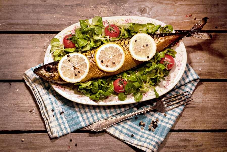 Fischmalzeit auf Teller