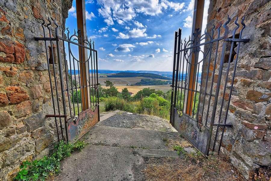 Blick von Burg Mellnau