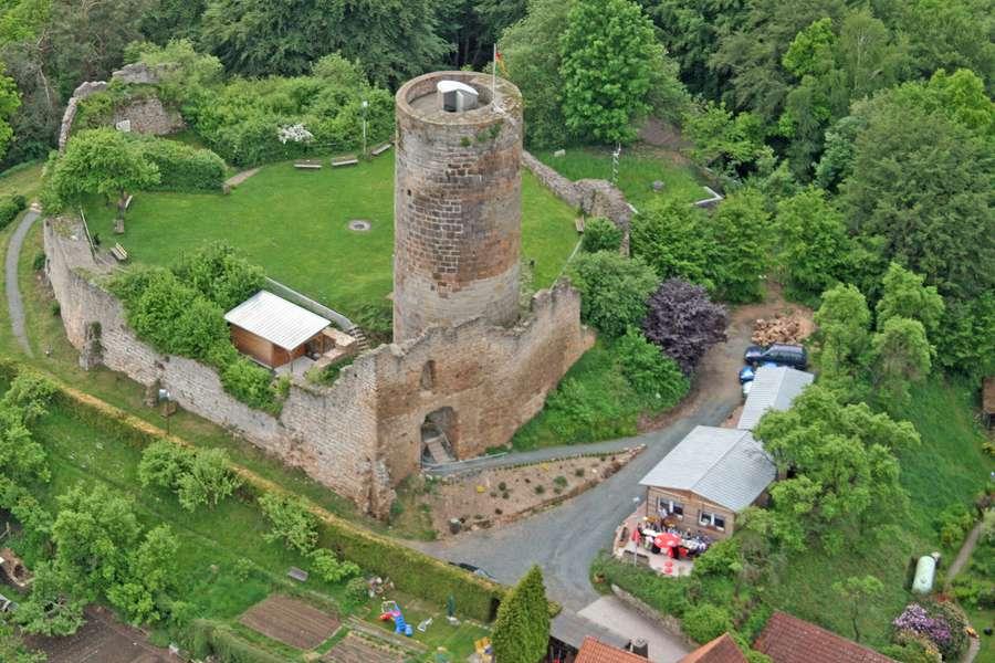 Luftbild Burg Mellnau