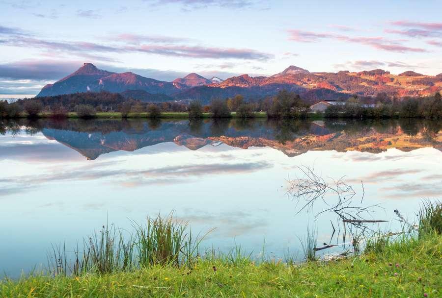 Blick auf Seenlandschaft